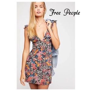 Free People Josie Deep V Mini Dress